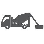 3- Na obra, o caminhão descarrega a argamassa diretamente no recipiente.