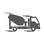 2- Depois, é levada até a obra em um caminhão especial